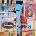 ITALIAN STREET SCENE IN PAPER COLLAGE