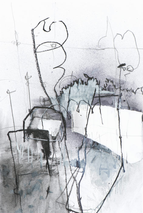 expressive drawing black and white allotments