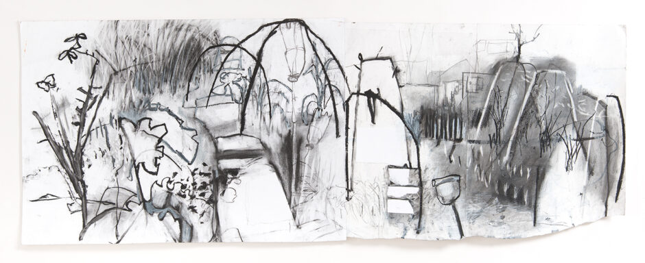 mixed media drawing allotments