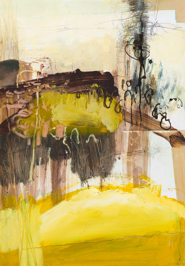 abstracted yellow brown lanscape