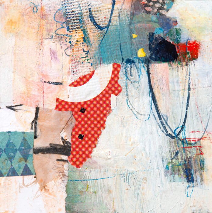 abstract circus collage painting