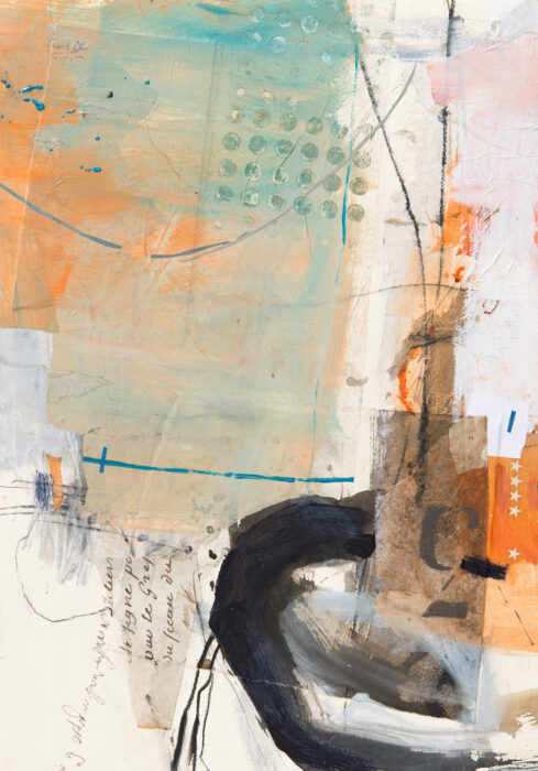 abstracted wharfside painting
