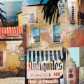 paper collage of french street scene