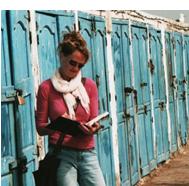 Karen Stamper sketching in Essaouira. Morocco