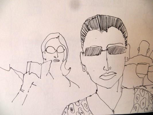Line Drawing In Html : Drawing people 'au plein air' karen stamper